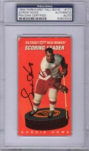 GORDIE-HOWE-SIGNED-AUTOGRAPHED-1994-PARKHURST-TALL-BOY-171-RED-WINGS-PSA-DNA