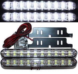 LED-Tagfahrleuchten-TUV-Dimm-Modus-20SMD-E-Pruefzeichen-E4-R87-Tagfahrlicht