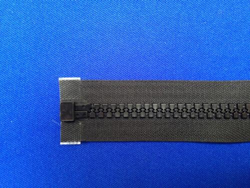 """2cm 24 1//4 /"""" 10 peso dispositivo di scorrimento in metallo NERO a trama grossa HEAVY DUTY ZIP open end 61 1"""