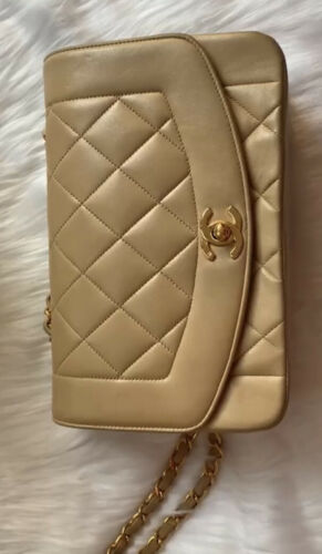Chanel Vintage Diana Flap Bag Quilted Lambskin Sma