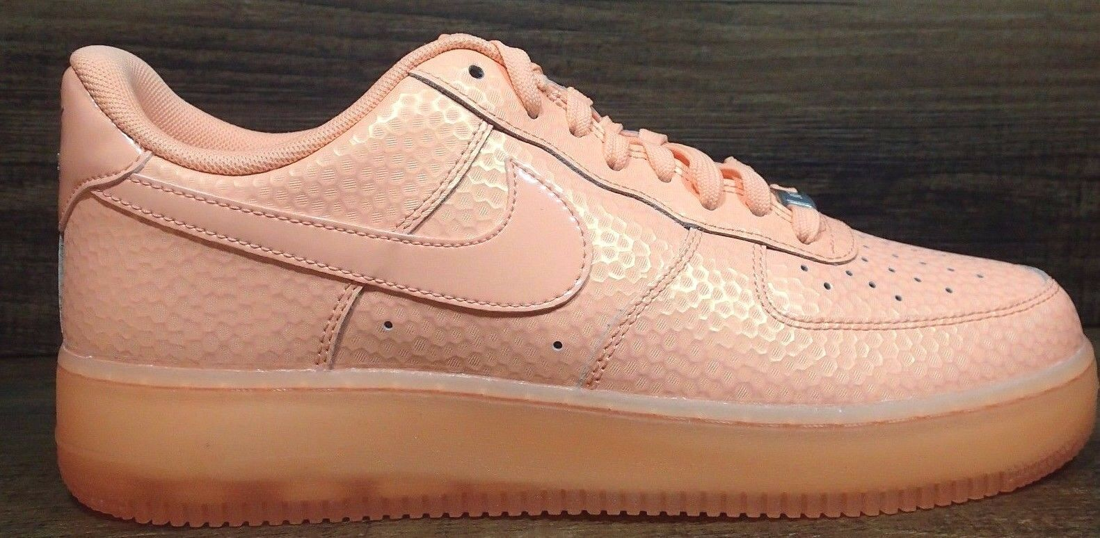 NIKE WOMEN AIR FORCE 1 '07 PRM SUMMER SUNSET GLOW ORANGE SHOES Price reduction