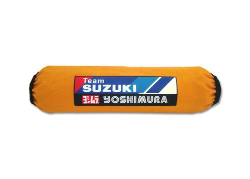 Set 4 Yellow Suzuki Shock Covers Eiger 4x4 4WD Vinson Quadrunner 250 400 500