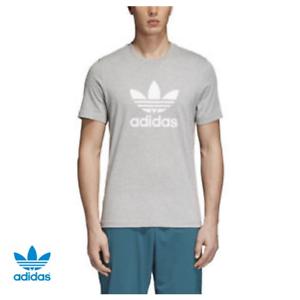adidas-Originals-Men-039-s-Trefoil-Premium-Logo-Soft-Grey-T-Shirt-CY4574
