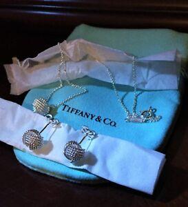 1fa340918 $375 Tiffany & Co. Sterling Silver 925 Twist Knot Rope Earrings ...