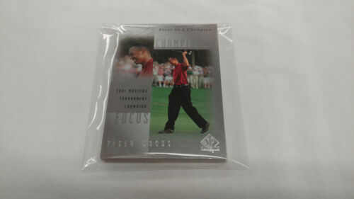 2001 Upper Deck SP Authentic Focus on a Champion Tiger Woods Complete Set 19