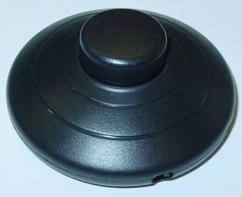 rund S63 schwarz 250V//2A Lampenschalter Schnurschalter Fußtretschalter
