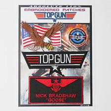 "TOP GUN ""GOOSE"" FANCY DRESS Iron-On Patch Super Set #130 - FREE POSTAGE!"