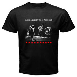 New-RAGE-AGAINST-THE-MACHINE-RATM-Rock-Band-Men-039-s-Black-T-Shirt-Size-S-to-3XL