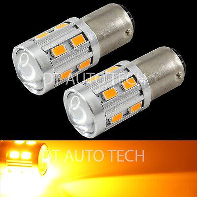 2X 1157 High Power 5630 Chip+Cree LED Yellow Turn Signal Brake Tail Lights Bulbs