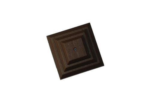 """Linic 5 x Brown 3"""" 75mm Plastic Fence Post Cap Top Finial UK Made GT0043"""