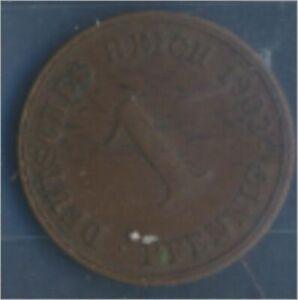 German-Empire-Jagerno-10-1903-J-ext-fine-Bronze-1903-1-Pfennig-Eagle-7848997