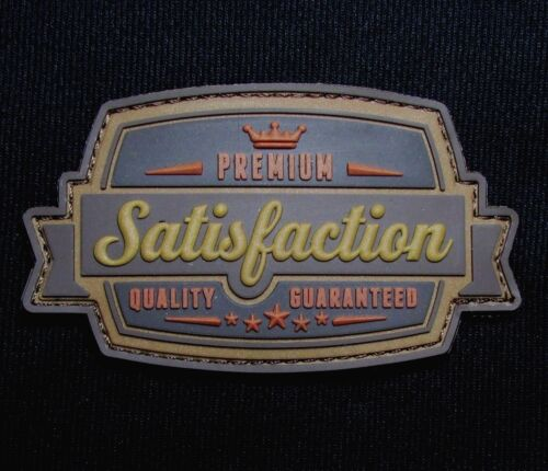 SATISFACTION 3D PVC BADGE USA ARMY MORALE BRONZE HOOK PATCH