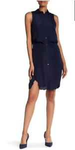 PARKER Overlay Shirt Dress Aquarius Navy bluee Sz L Large NWT  398