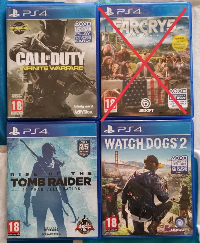 Ps4 Games To Sell Or Swop