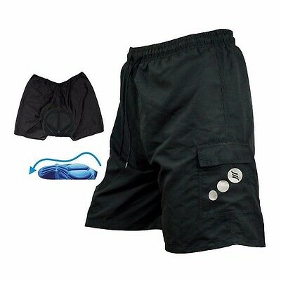 SANTIC Men 3D Padded Baggy Cycling Shorts Casual Bicycle Bike MTB Short Pants