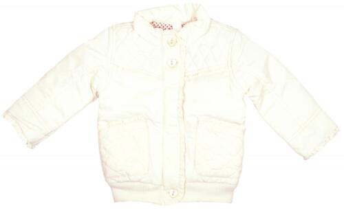Girls Coat Padded Jacket Cream Coat Newborn Baby to 18 Months RRP £15.99