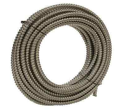"NEW 100/' Southwire Metal Flex Flexible 3//8/"" Conduit .375/"" Electrical Wire Tubing"