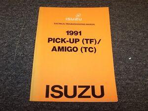1991 Isuzu PUP P'up Pickup Truck & Amigo SUV Electrical ...