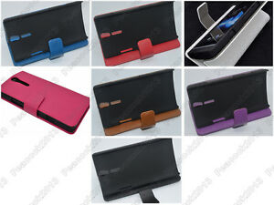 Multi-Color-Leather-Cover-Flip-Case-HOLDER-WALLET-For-Sony-Xperia-S-LT26i