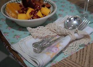 Vintage Silver Plated Dessert Fork /& Spoon Set