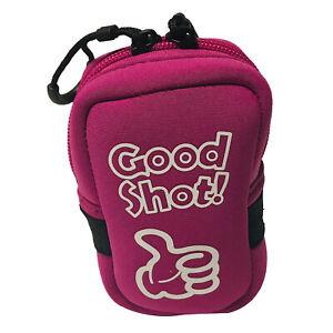 Golf Range Finder Tasche Tasche Hard Case Protector mit Karabiner Rose Rot