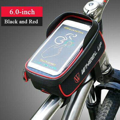 Cycling Bicycle Phone Bag Frame Front Tube Pouch Waterproof Touch Screen