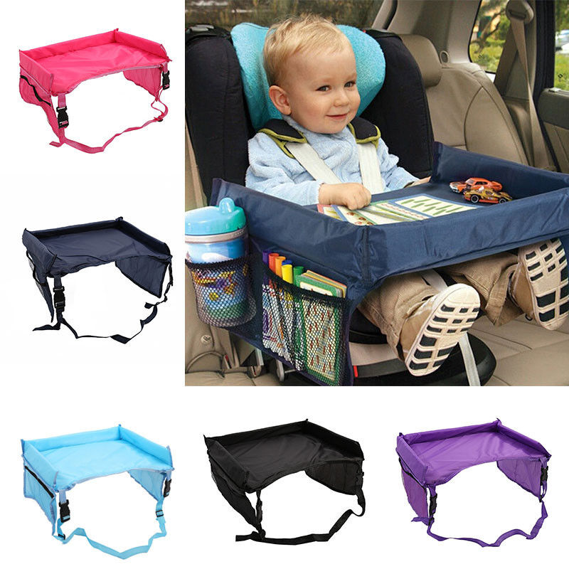 New Waterproof Snack Baby Car Seat Table Kids Play Travel Tray Drawing  Board