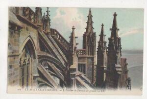 Le-Mont-Saint-Michel-Escalier-de-Dentelle-LL-101-France-Vintage-Postcard-US081