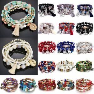 Fashion-Boho-Multilayer-Natural-Stone-Crystal-Beaded-Bracelet-Women-Bangle-Gift