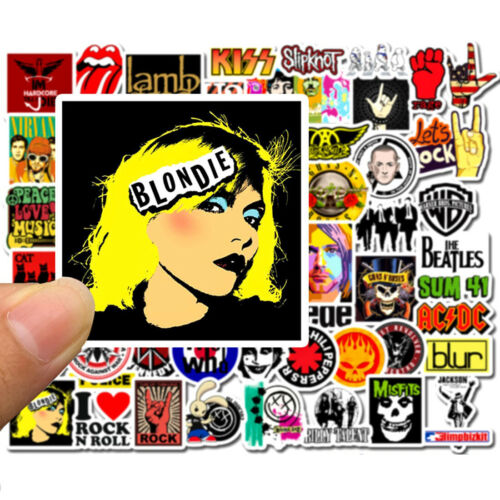 Details about  /52Pcs Rock Music Vinyl Sticker Pack decals BOMB Laptop Luggage Skateboard Dope