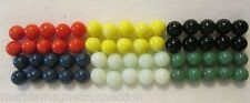 60 - 9/16 SOLID COLOR GAME MARBLES 10 OF EACH COLOR  MARBLE KING MADE IN U.S.A.