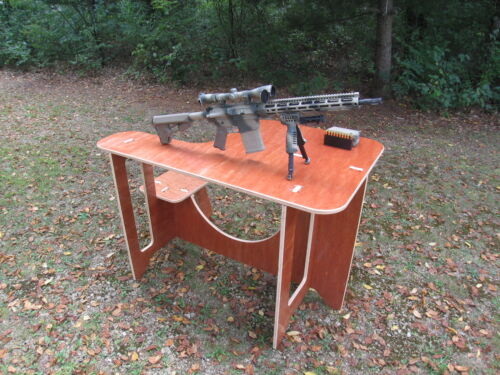 Portable Wooden Shooting Bench with Carrying Case Included