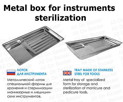 "Metal box for instruments sterilization ""Auction"""