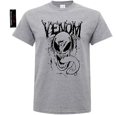 VENOM SPIDER T-Shirt Spiderman Games Marvel DC Deadpool Gym Top Xmas Gift Print