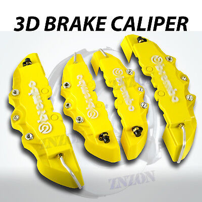 4pcs Yellow Disc Brake Caliper Cover For Infiniti QX30 QX60 Q45 Q50 Q6 Q70 Q70L