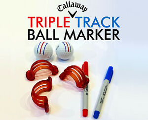 Callaway-Triple-Track-balle-de-golf-Ligne-Marqueur-Pochoir-Chrome-Soft-ERC-Odyssey