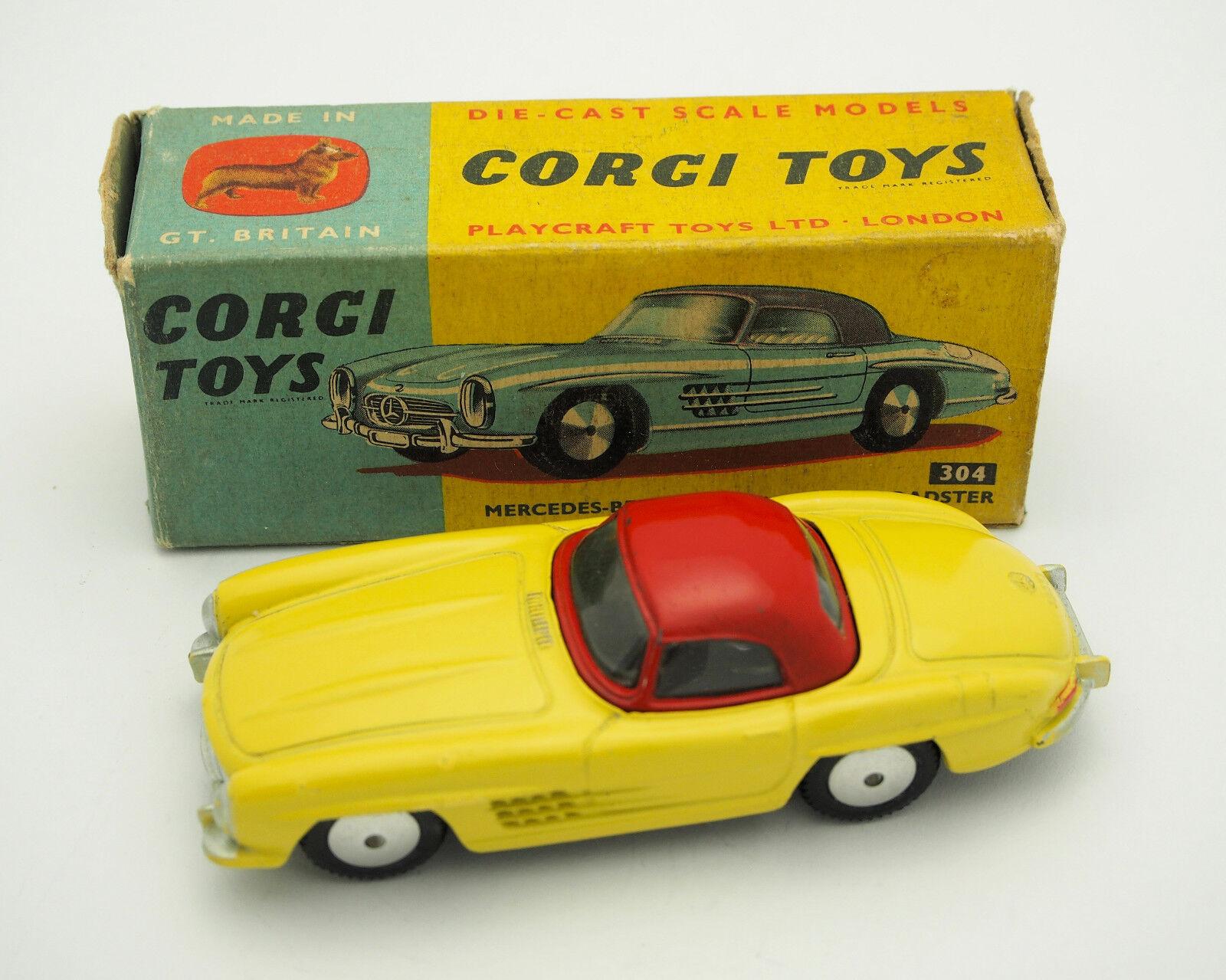 CORGI 304 MERCEDES 300 SL ROADSTER boîte d'origine