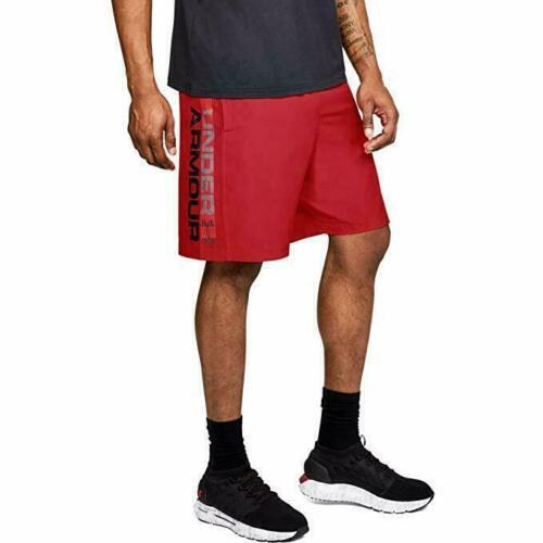 NWT Mens Under Armour UA Graphic Wordmark Heatgear Shorts Red FREE SHIP