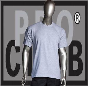 e913db488237b7 Big and Tall T-Shirts Plain Men PRO CLUB HEAVYWEIGHT Heather Gray ...