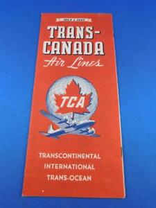TRANS-CANADA-AIRLINES-TIMETABLE-SCHEDULE-TCA-1947-TRANSCONTINENTAL-TRANS-OCEAN