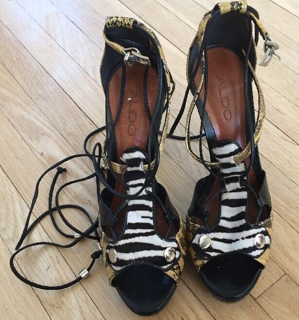 Very Cool Aldo Stiletto shoes Style Style Style Bucknell-98 Snake and Zebra size 37B 07aa05
