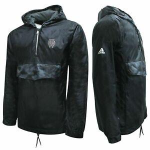 Adidas-John-Wall-JW-Anorak-Wind-Breaker-Kapuzen-Herren-Jacke-schwarz-s11217-a43b