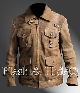 2 Genuine Expendables Jason Statham Jacket Distressed The Leather qq6wZ