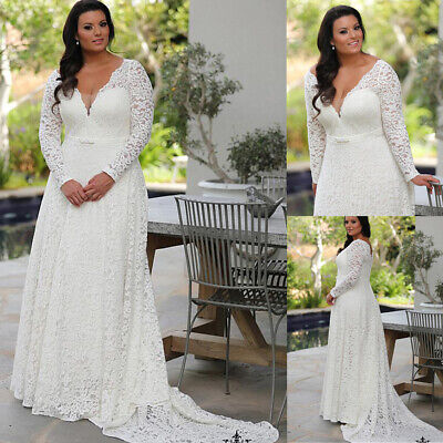 plus size simple wedding dresses with sleeves