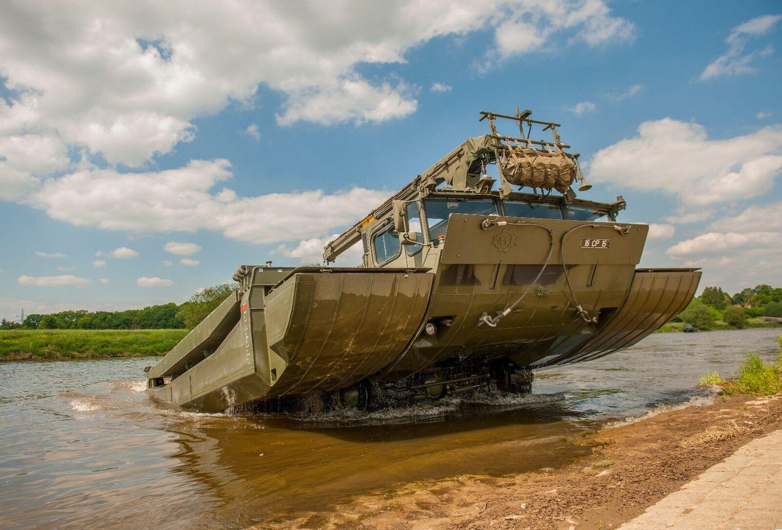 BRITISH ARMY  M3 Amphibious Bridging Vehicle  Photo Print