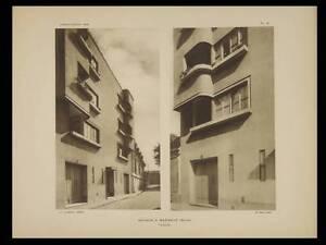 Bagneux, 5 Rue Fortin - 1929 - 3 Planches Architecture - Andre Lurcat La Qualité D'Abord