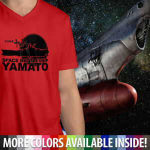 Anime-New-Space-Battleship-Yamato-Star-Blazers-Mens-Unisex-Tee-V-Neck-T-Shirt