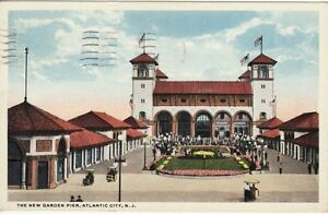 Antique-POSTCARD-c1916-Garden-Pier-ATLANTIC-CITY-NJ