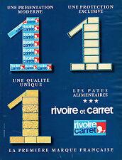 PUBLICITE  1967   RIVOIRE & CARRET  les pates alimentaires