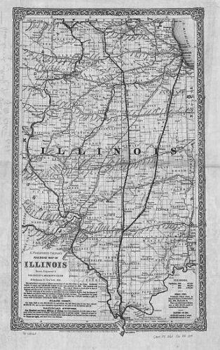 1861 IL MAP CUMBERLAND DeKALB DeWITT DOUGLAS DuPAGE EDGAR EDWARDS COUNTY HUGE